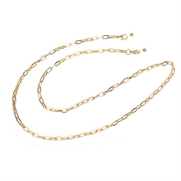 Dainty Gold Face Mask Chain/Sunglass Chain