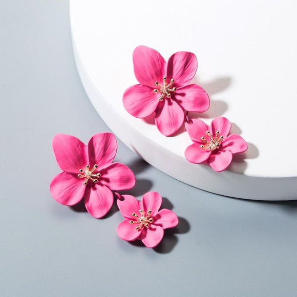 The Hollie | Double Flower Drop Earring