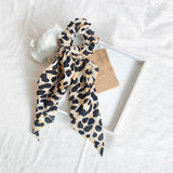 Long Satin Leopard Hair Scarf
