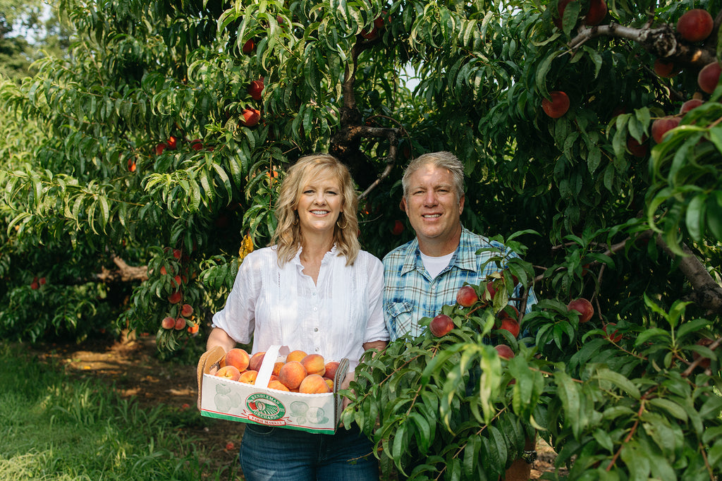 Wayne and Michelle Sirles owner of Rendleman Orchards. Southern Illinois Midwest Family-Owned Orchards.
