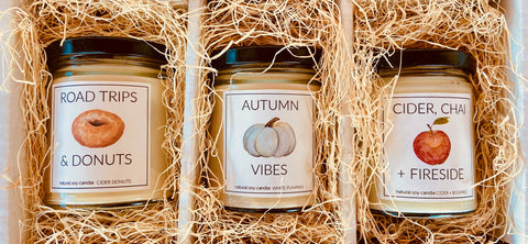 FALL CANDLE TRIO BOX