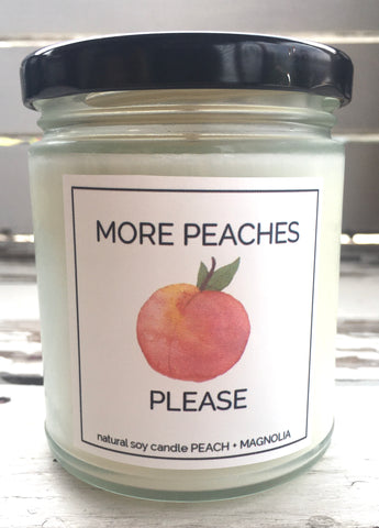 MORE PEACHES PLEASE CANDLE