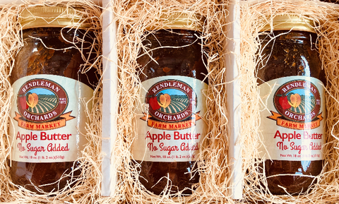 NO SUGAR ADDED Apple Butter 3 Jar Trio