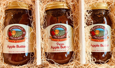2 Apple Butter, 1 Pecan Apple Butter 3 Jar Trio