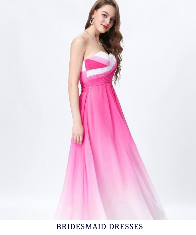 Our bridesmaid dresses come in a variety of styles, long or short, chiffon or lace, pink or white and so on.