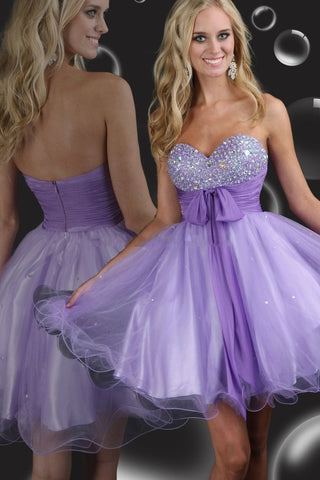 Collection Sweetheart A Line Short/Mini Organza Prom Dresses Under 200