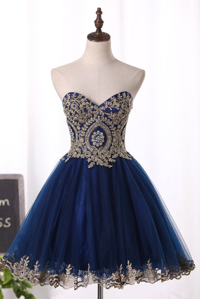 Sweetheart A Line/Princess Prom Dress With Applique Tulle