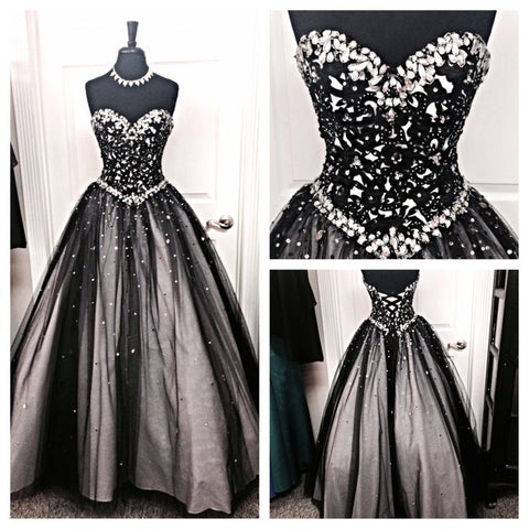New Design Sequin Shiny Long Prom Dresses A-neck Sweetheart Prom Dresses JS549