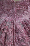 New Arrival Sweetheart A Line Lace Prom Dresses Sweep Train