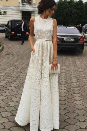 Ivory Charming Long Cheap Evening Dress Custom Made Formal Women Dress Prom Dresses uk F45