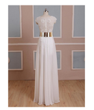 Cap Sleeves Sexy V-neck Side Slit Wedding Party Dresses Popular prom dresses online WD0121
