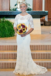 2020 Long Sleeve Lace Open Back Mermaid Long Custom Affordable Wedding Dresses UK JS348