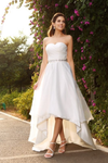 High Loe Ivory Sweetheart Open Back Simple Elegant Wedding Dresses