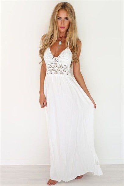 A line Chiffon V Neck Beach Wedding Dresses Backless Ivory Wedding Gowns JS506