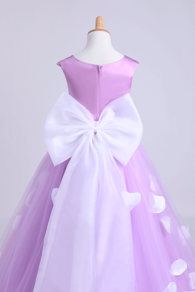 2019 Cute A-Line Ankle-Length Flower Girl Dresses With Bow-Knot