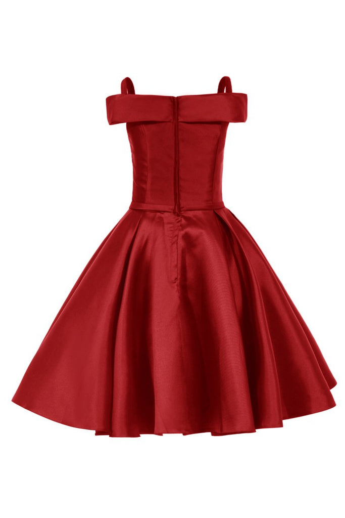 Straps Cocktail Dresses A Line Satin With Sash Short/Mini