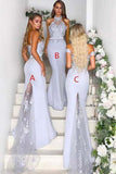 Mix And Match Mermaid Purple Bridesmaid Dresses Wedding Party Dresses