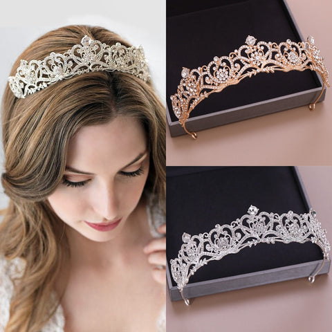 New Wedding Crown Headpiece Baroque Tiara And Crown Fashion Princess