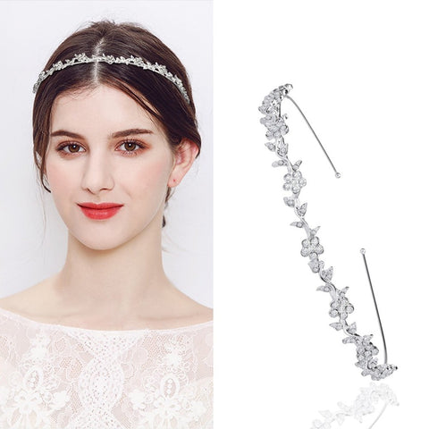 Fashion Crystal Elegant Leaf Design Headpiece Hair Accessories