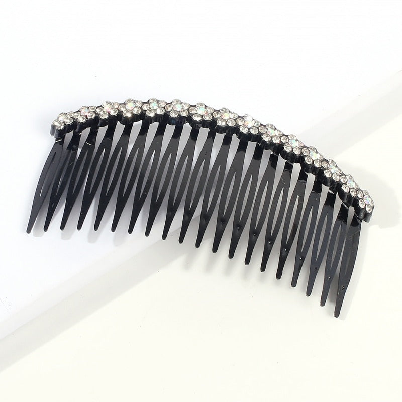 Fashion Rhinestone Hair Comb Hairstyles Flower Crystal Headpieces