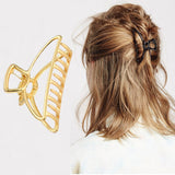 Geometric Hair Claw Clamps Metal Hair Crab Moon Shape Headpieces