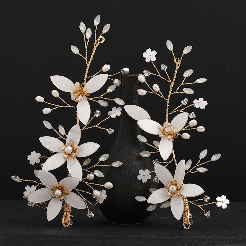 Flower Leaf Headpieces Hairpins Bride Noiva Bridal Wedding Party