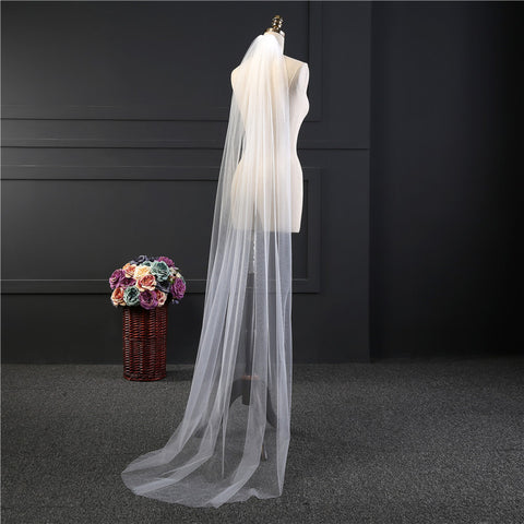 Wedding Veil One-layer long Bridal Veil Head Veil Wedding Accessories Hot Sell