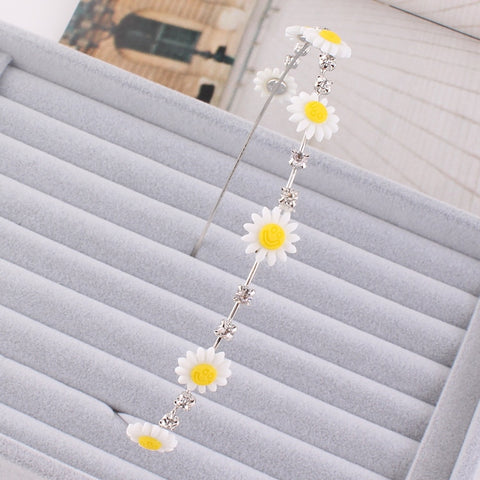 Cute Romantic Daisy Acrylic Flowers Hair Accessories Headpieces