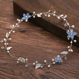 Crystal Headbands Wedding Hair Accessories Handmade Hair Decoration Flower Leaf headpieces