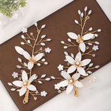 Flower Leaf Headpieces Hairpins Bride Noiva Bridal Wedding Party headpieces