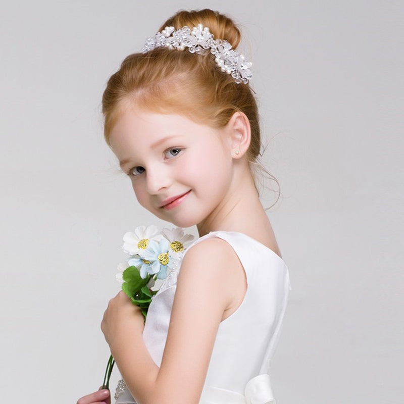 Simulated Pearl Headband Girls Headdress Hair Ornaments Wedding Party Graduation Headpiece