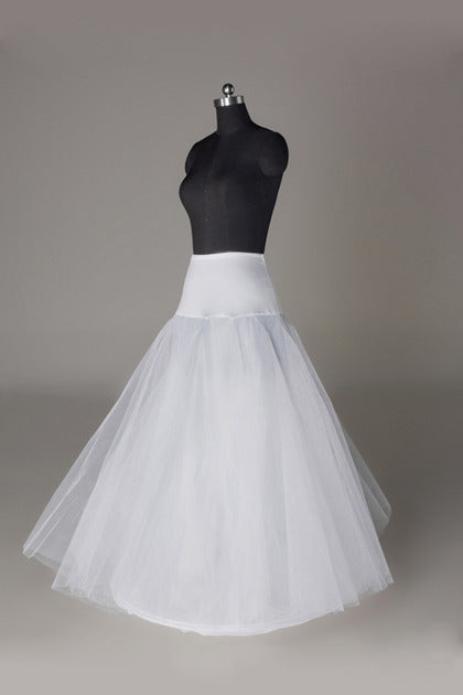 Women Tulle/Polyester Floor Length 2 Tiers Petticoats JS0013