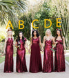 Bridesmaid dresses Burgundy