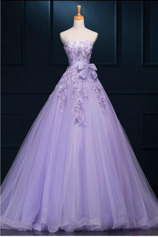 New Arrival Ball Gown Floor-length Luxury Appliques Prom Dress Wedding Dresses JS195