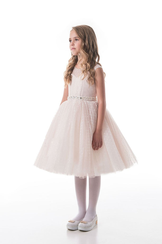 New Arrival Scoop Flower Girl Dresses A Line Tulle With Sash