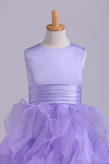 Flower Girl Dresses Ball Gown Scoop Floor Length Organza