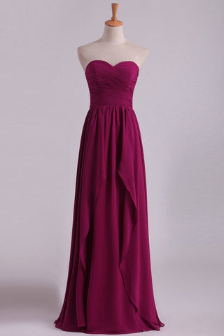 2019 Bridesmaid Dresses A Line Sweetheart Chiffon With Ruffles