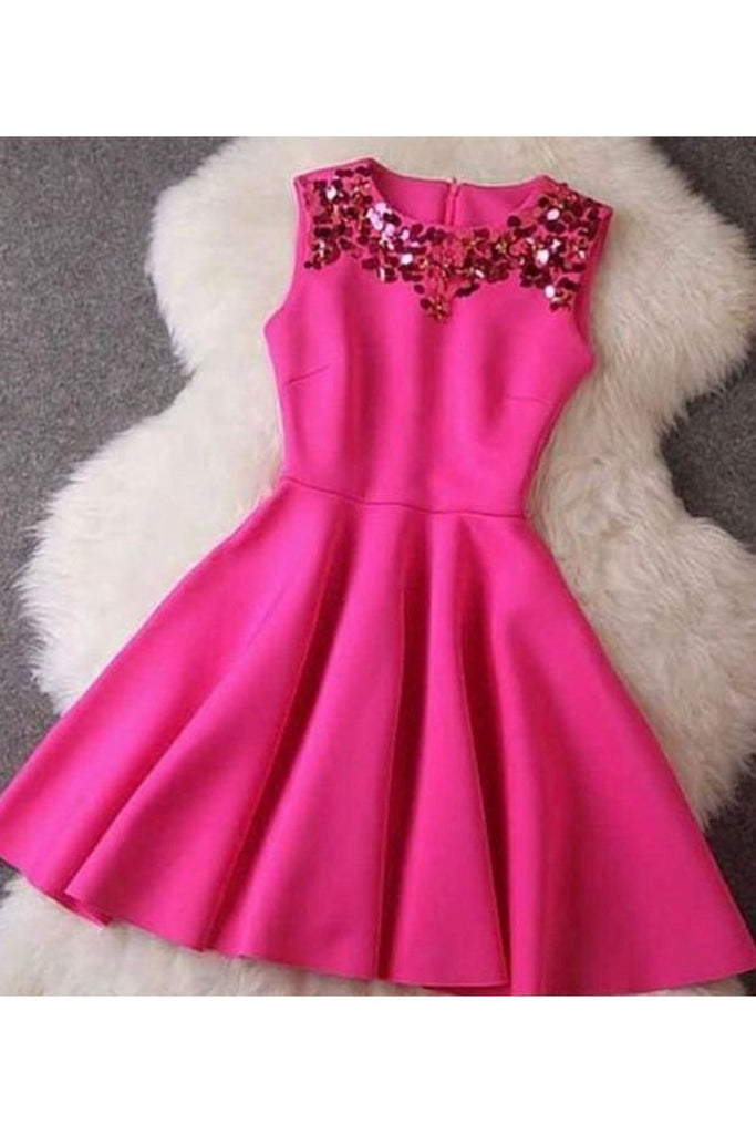 Homecoming Dresses A Line Scoop Satin With Beads