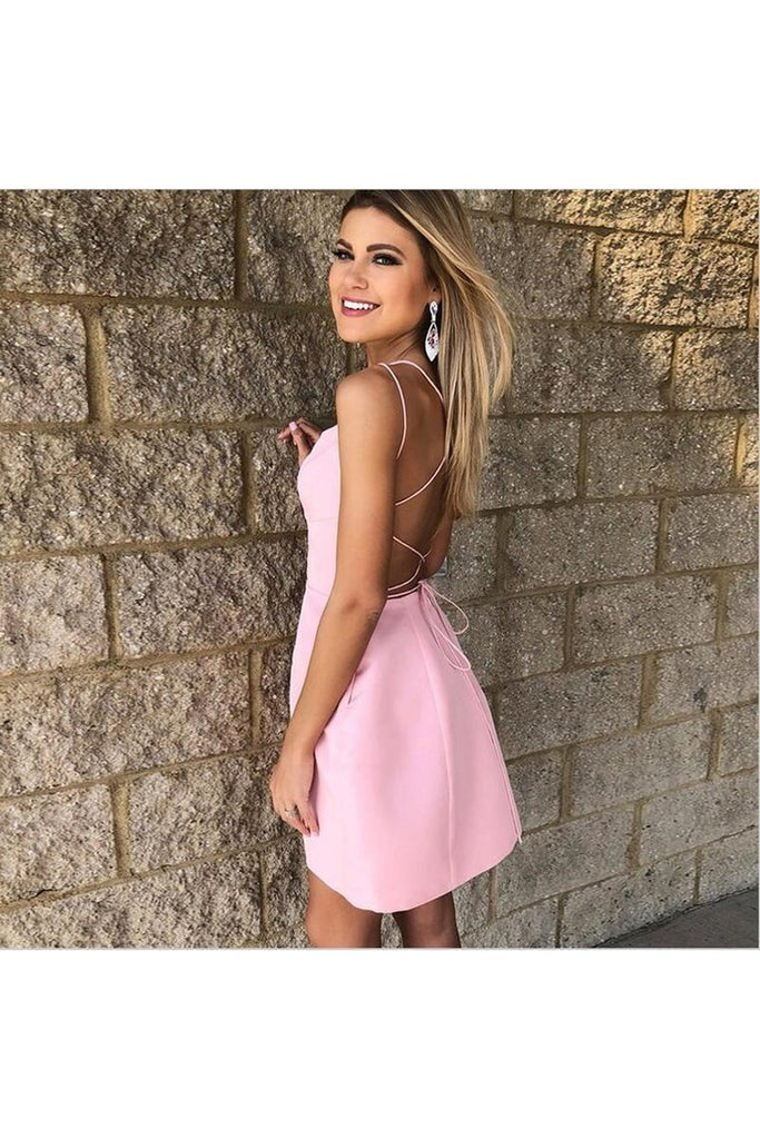 Short Backless Formal Graduation Homecoming Dresses