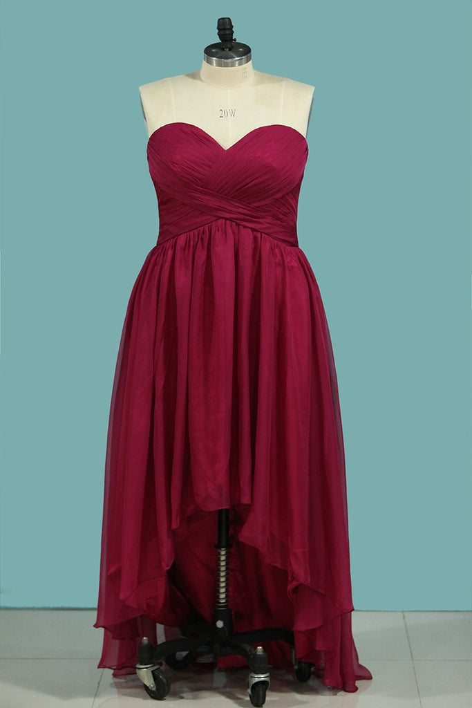 Asymmetrical Bridesmaid Dresses Sweetheart Ruched Bodice A Line