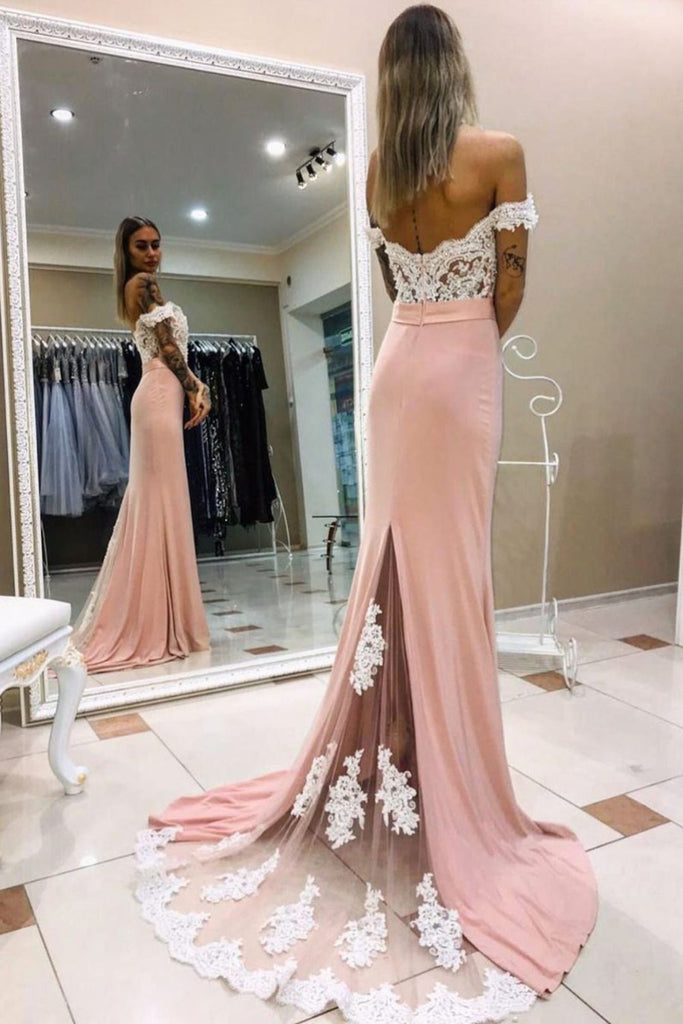 Charming Prom Dress Off The Shoulder Evening Dress