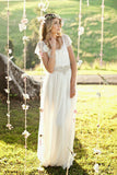 A Line Wedding Dresses Chiffon & Lace With Beading