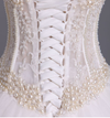 Gorgeous Wedding Dresses A-Line Sweetheart See Through Floor-Length Tulle With Pearls Lace Up