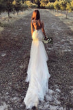 Straps Mermaid Wedding Dresses Tulle With Applique And Beads