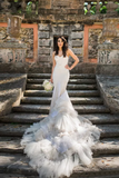 Mermaid Wedding Dresses Sweetheart Tulle With Applique And Beads