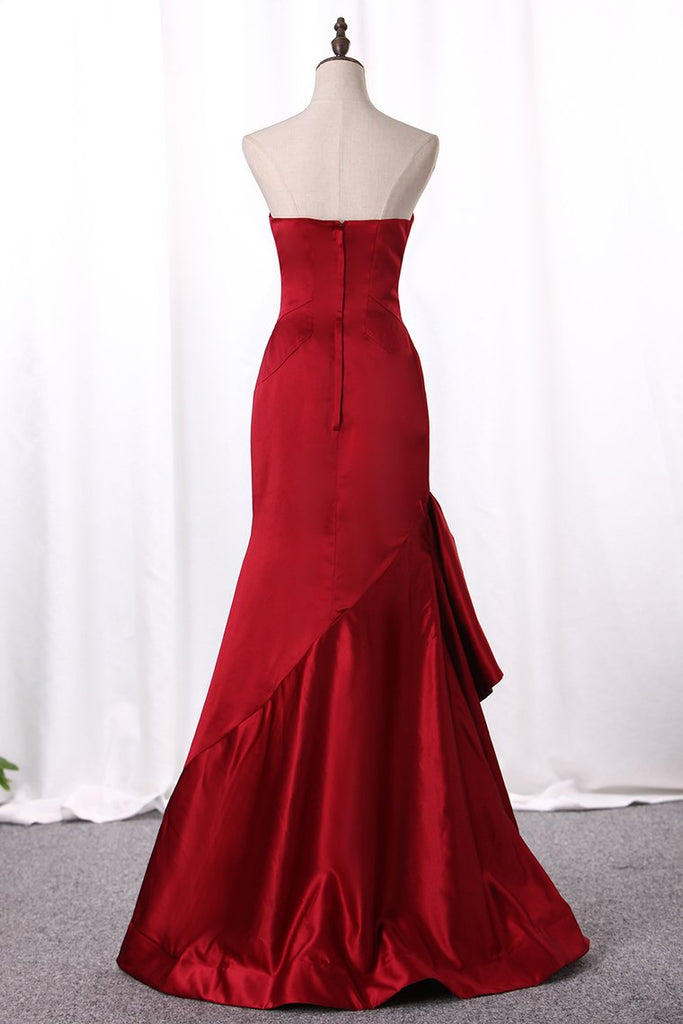 New Arrival Evening Dresses Mermaid Sweetheart Satin Floor Length