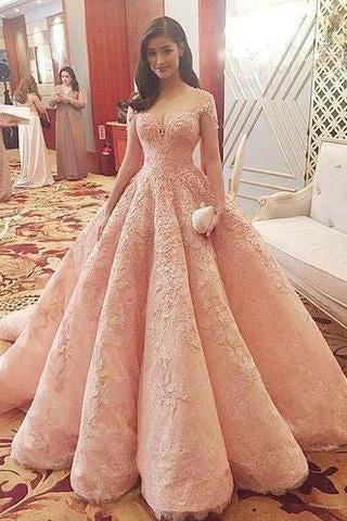 Blush Pink Evening Dress New Fashion Gorgeous Sweet 16 Gowns pink long Quinceanera Dresses JS168