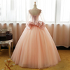 Vintage Pink Flower Long Sleeves Puffy Tulle Long Quinceanera Dress Prom Dresses UK JS428