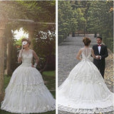Ball Gown Tulle Sleeveless Beach Outdoor Garden Handmade Women's Wedding Dress JS57