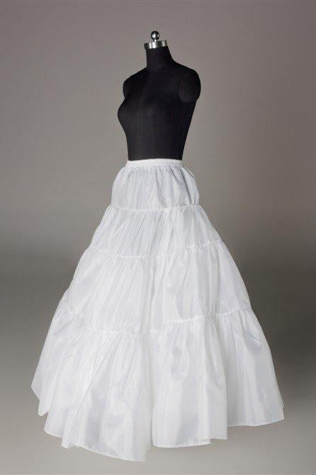 Fashion Wedding Petticoat Accessories White Floor Length Underskirt  FU01